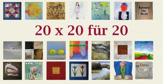 20 x 20 für 20 –Kunst im Quadrat zum kleinen Preis!
